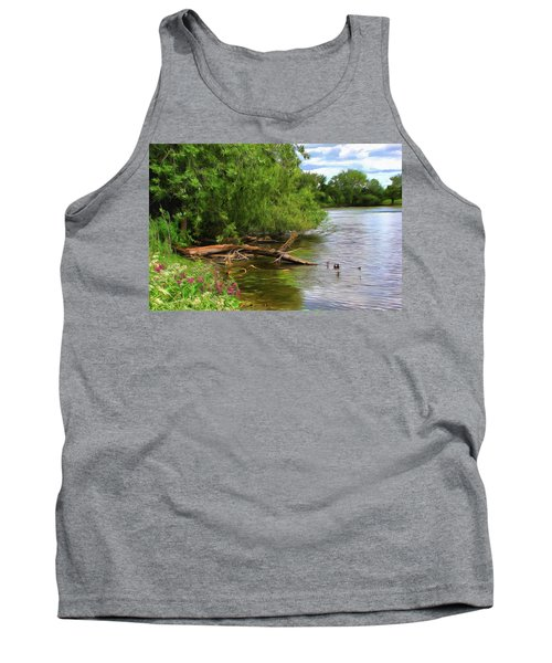 Lakeside Blossoms Tank Top