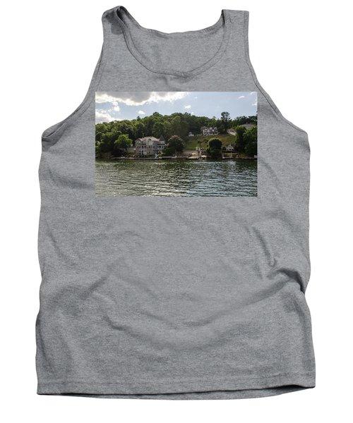 Tank Top featuring the photograph Lakeside Living Hopatcong by Maureen E Ritter