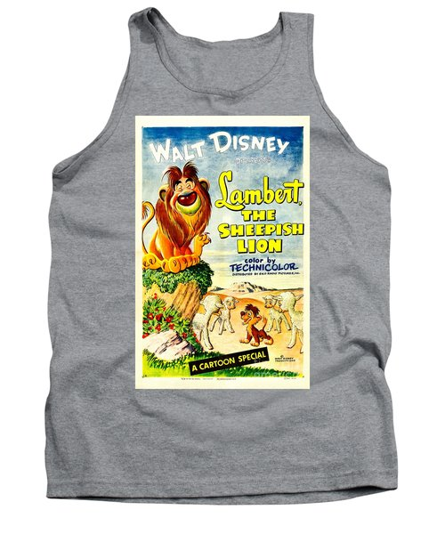 Lambert The Sheepish Lion, 1952 Walt Disney Cartoon Tank Top