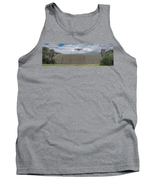 Tank Top featuring the photograph Lancaster Over The Derwent Dam by Gary Eason