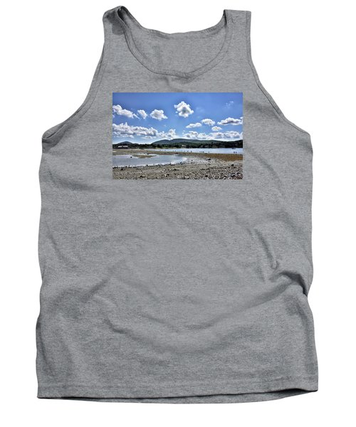 Land Bridge From Bar Harbor To Bar Island - Maine Tank Top by Brendan Reals