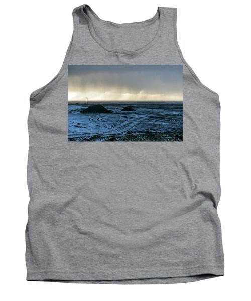 Tank Top featuring the photograph land of Lava by Dubi Roman