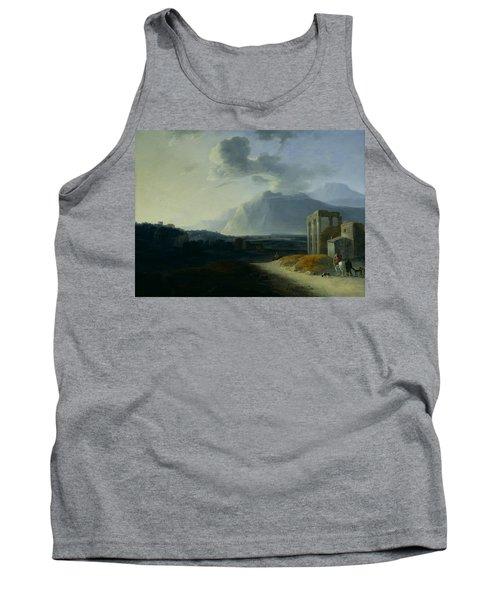 Landscape With Mount Stromboli Tank Top