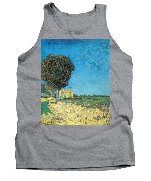 Tank Top featuring the painting Lane Near Arles by Van Gogh