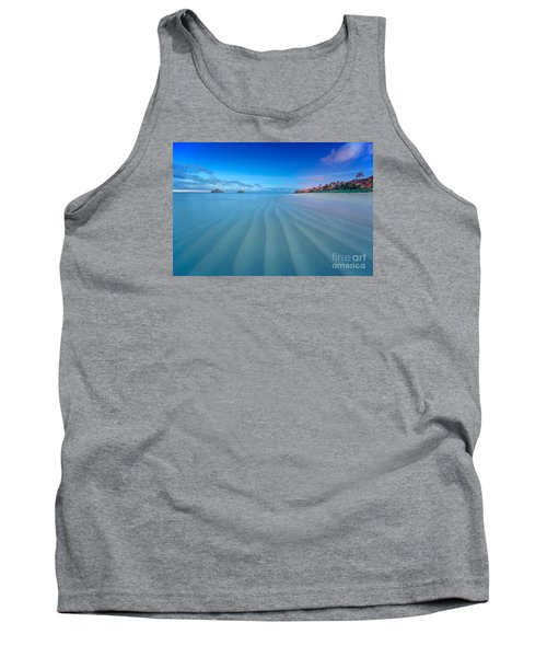 Tank Top featuring the photograph Lanikai Beach Ripples In The Sand Wide by Aloha Art