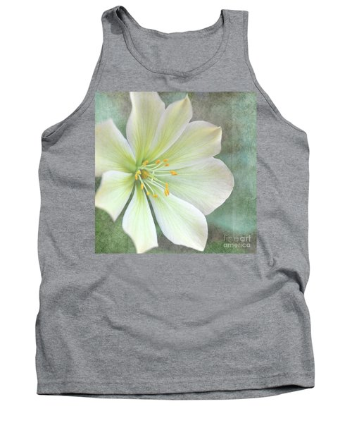 Tank Top featuring the pyrography Large Flower by Lyn Randle