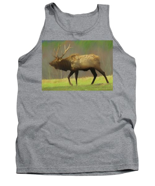 Large Pennsylvania Bull Elk. Tank Top