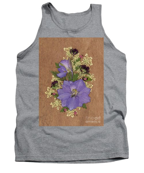 Larkspur And Queen-ann's-lace Pressed Flower Arrangement Tank Top