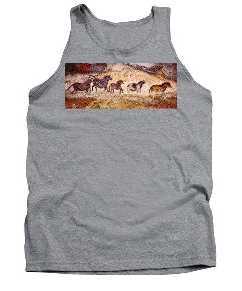 Lascaux Horses Tank Top