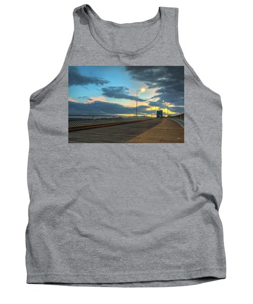 Last Light And Color Over Walnut Tank Top by Steven Llorca
