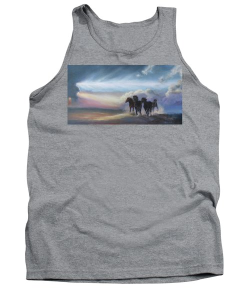 Last Run Of The Day Tank Top by Karen Kennedy Chatham