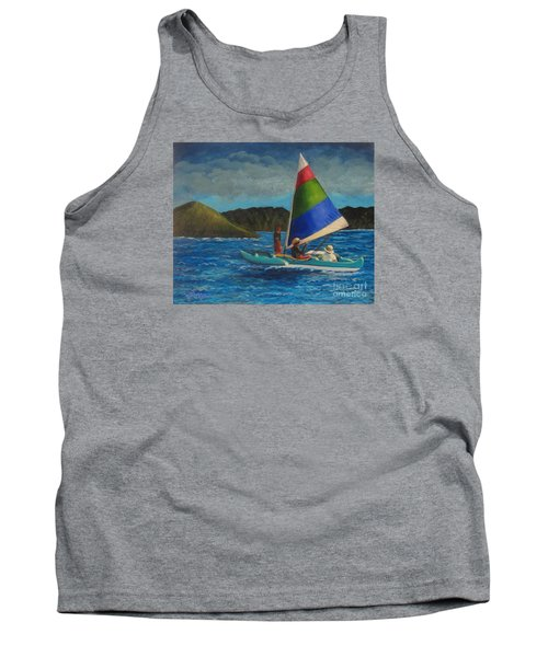 Last Sail Before The Storm Tank Top by Laurie Morgan