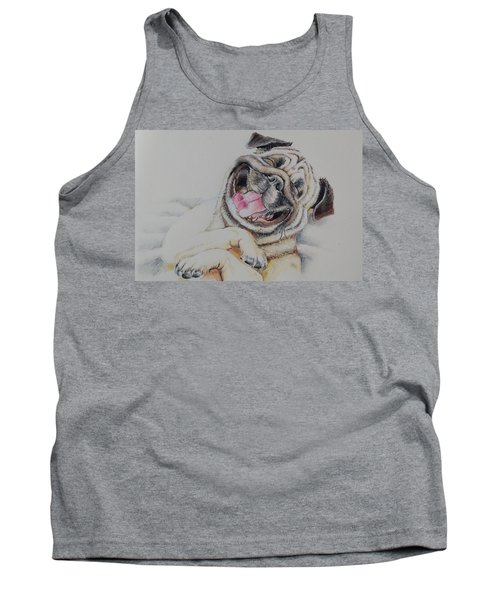 Laughing Pug Tank Top
