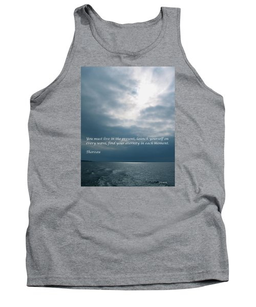 Launch Yourself On Every Wave Tank Top by Deborah Dendler