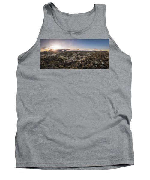 Lava Field Panorama Sunrise Tank Top