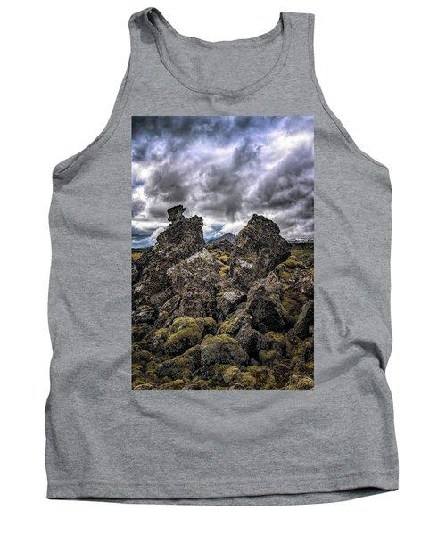 Lava Rock And Clouds Tank Top