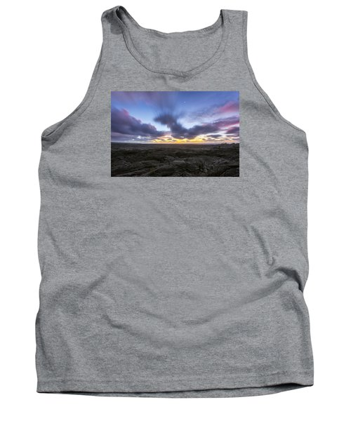 Tank Top featuring the photograph Lava Twilight by Ryan Manuel