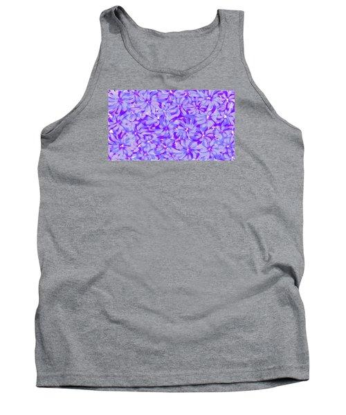 Lavender Blue 1 Tank Top by Linda Velasquez