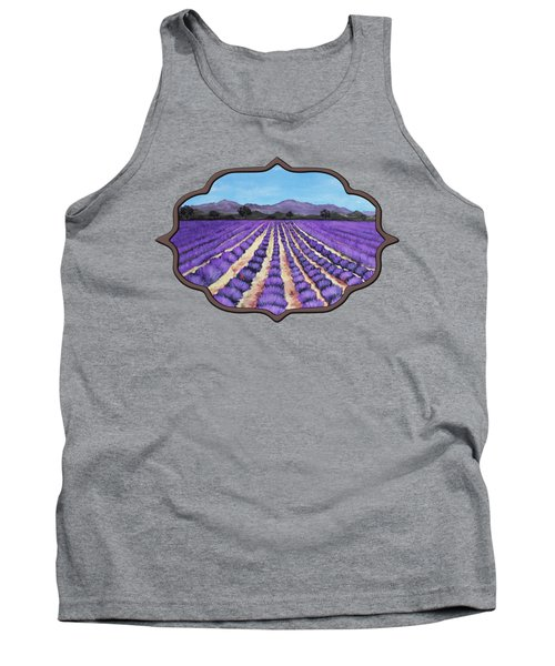 Lavender Field In Provence Tank Top