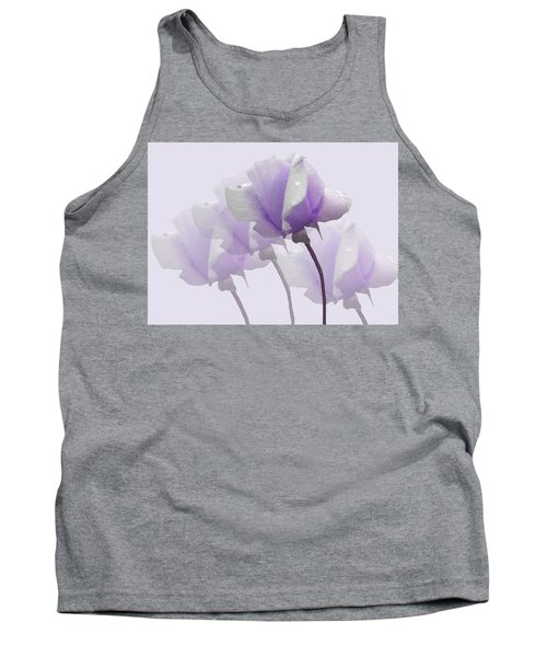 Lavender Roses  Tank Top by Rosalie Scanlon