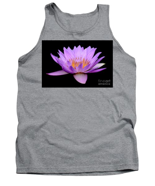 Lavender Tropical Day Lily Tank Top