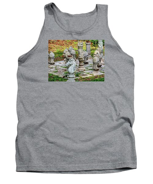 Lawn Chess Tank Top by Chris Anderson
