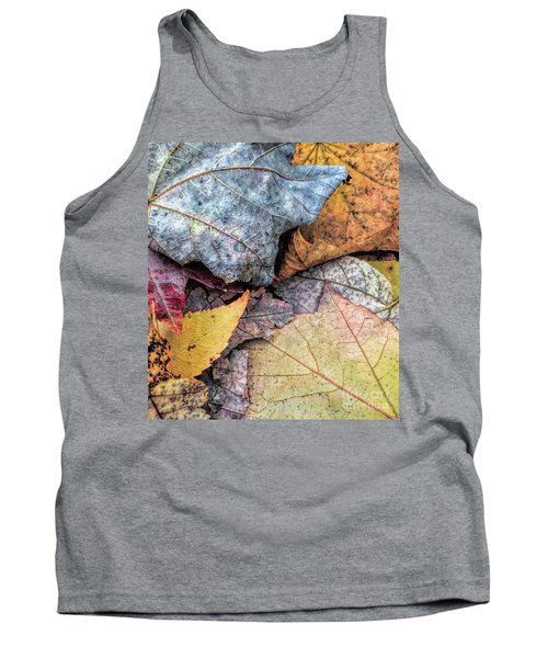 Leaf Pile Up Tank Top by Todd Breitling