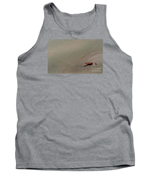 Tank Top featuring the photograph Leafe On The Beach by Gary Bridger