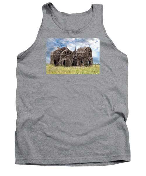 Lean On Me - Stick House Series 1/3 Tank Top by Patti Deters