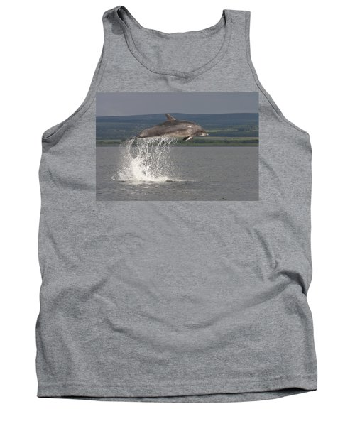 Leaping Bottlenose Dolphin  - Scotland #39 Tank Top