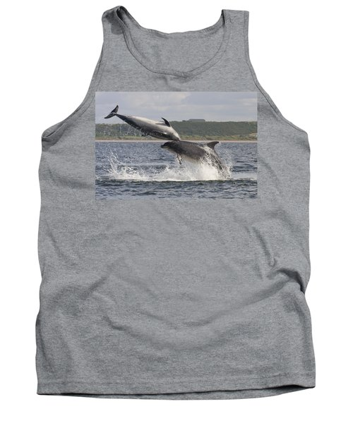 Leaping Bottlenose Dolphins - Scotland  #38 Tank Top