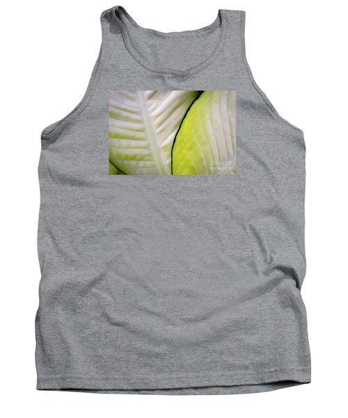 Leaves In White Tank Top