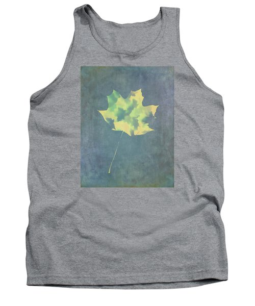 Leaves Through Maple Leaf On Texture 3 Tank Top by Gary Slawsky