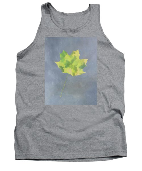 Leaves Through Maple Leaf On Texture 4 Tank Top by Gary Slawsky