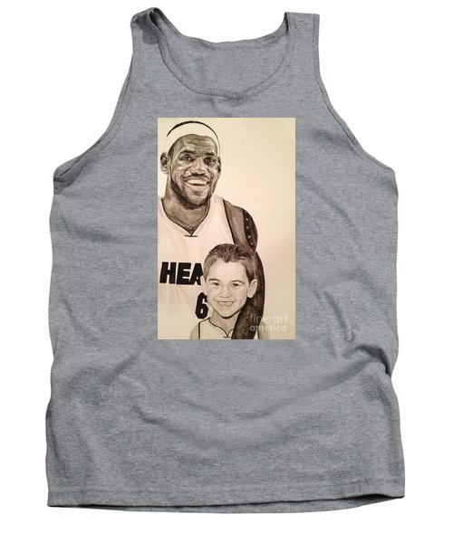 Tank Top featuring the painting Lebron And Carter by Tamir Barkan