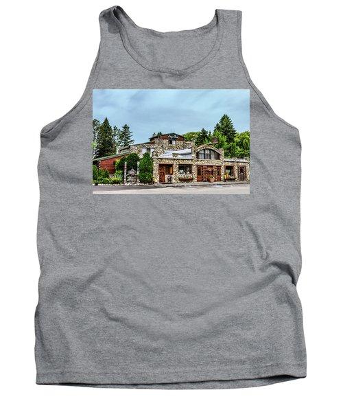 Tank Top featuring the photograph Legs Inn Of Cross Village by Bill Gallagher