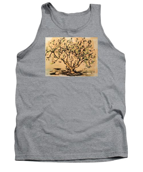 Tank Top featuring the painting Lemon Tree by Maria Langgle