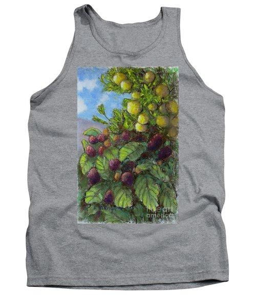 Lemons And Berries Tank Top by Laurie Morgan