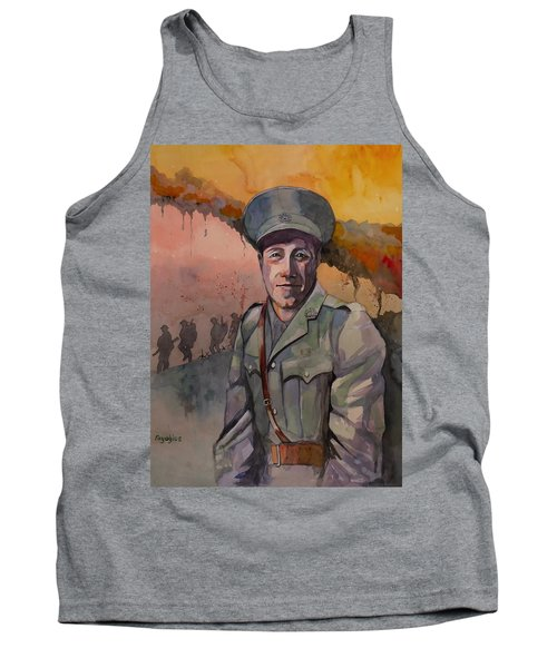 Tank Top featuring the painting Leonard Keysor Vc by Ray Agius