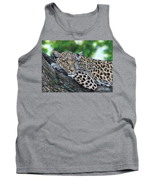 Leopard On Branch Tank Top