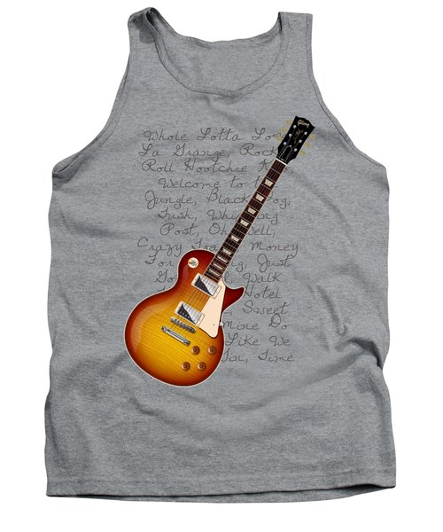 Les Paul Songs T-shirt Tank Top by WB Johnston