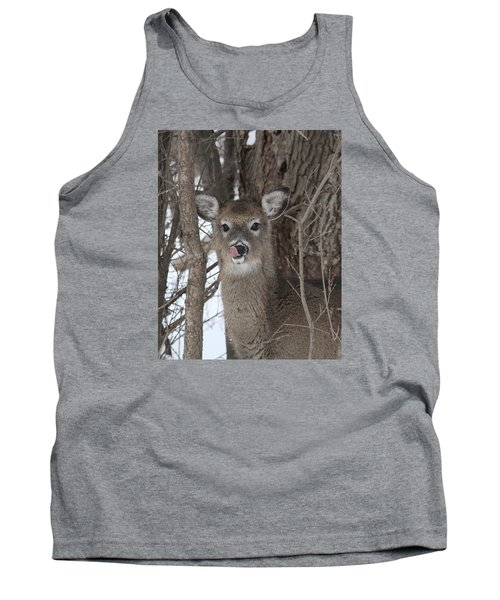 Tank Top featuring the photograph Licking Her Lips by Doris Potter