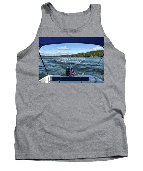 Tank Top featuring the photograph Life Of Leisure by Peggy Hughes