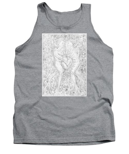 Tank Top featuring the mixed media Life Series 5 by Giovanni Caputo