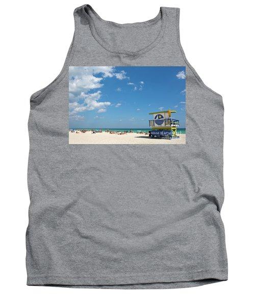Lifeguard Station Miami Beach Florida Tank Top