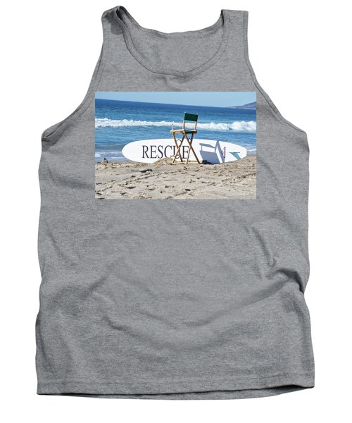 Lifeguard Surfboard Rescue Station  Tank Top