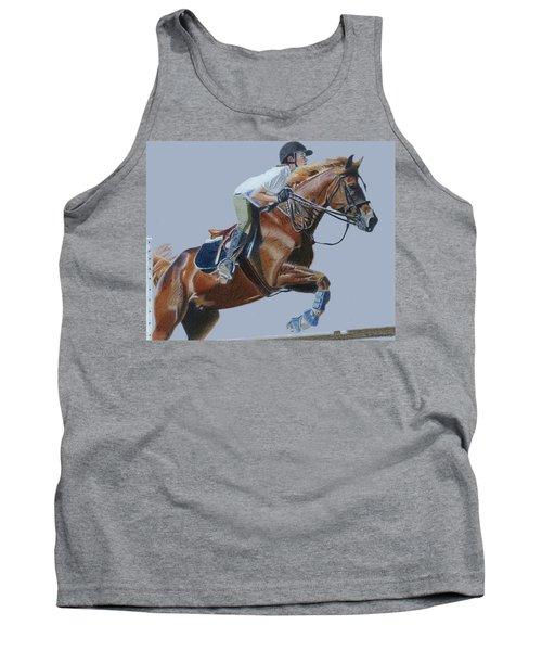 Horse Jumper Tank Top by Patricia Barmatz