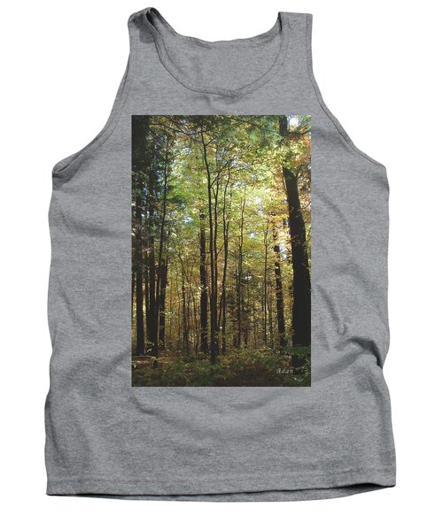 Tank Top featuring the photograph Light Among The Trees Vertical by Felipe Adan Lerma