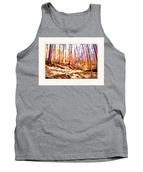 Tank Top featuring the photograph Light Between The Trees by Felipe Adan Lerma