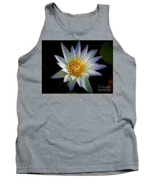 Light Blue Water Lily Tank Top